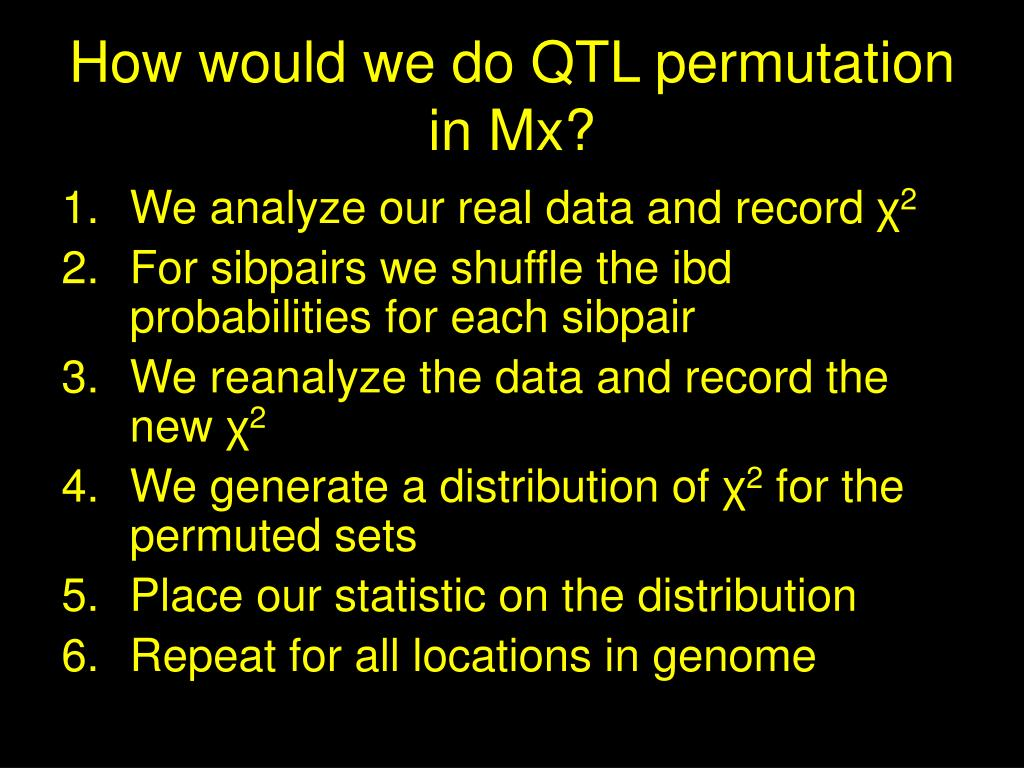 How would we do QTL permutation in Mx?