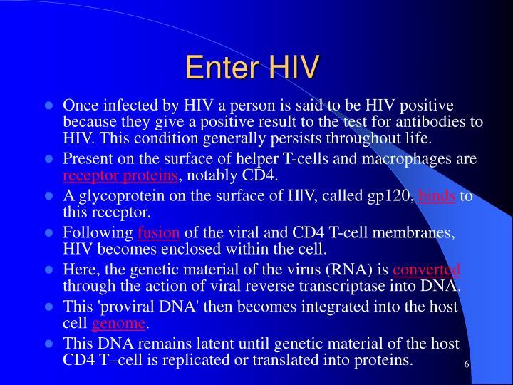 Enter HIV