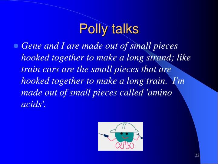 Polly talks