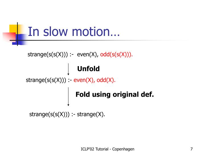 In slow motion…