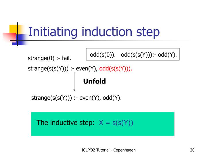 Initiating induction step