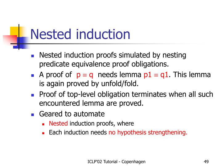 Nested induction