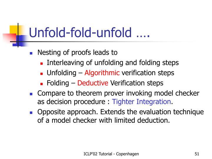 Unfold-fold-unfold ….