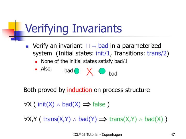 Verifying Invariants