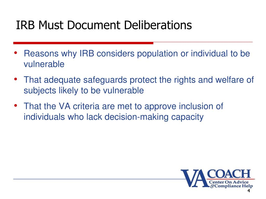 IRB Must Document Deliberations