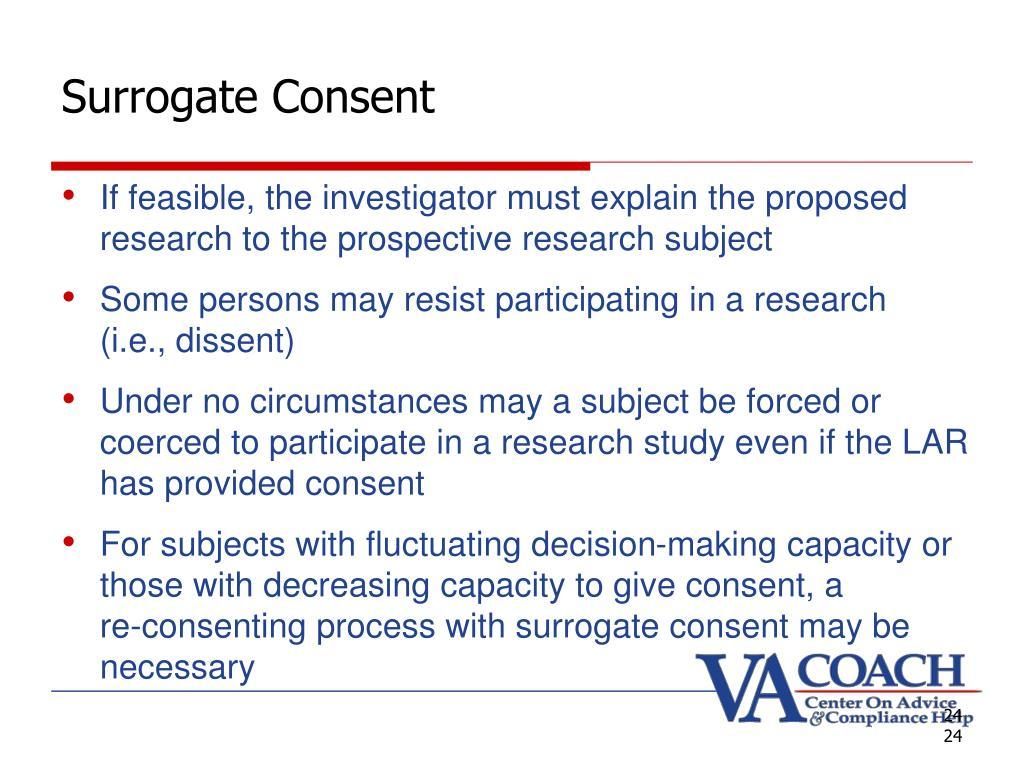 Surrogate Consent