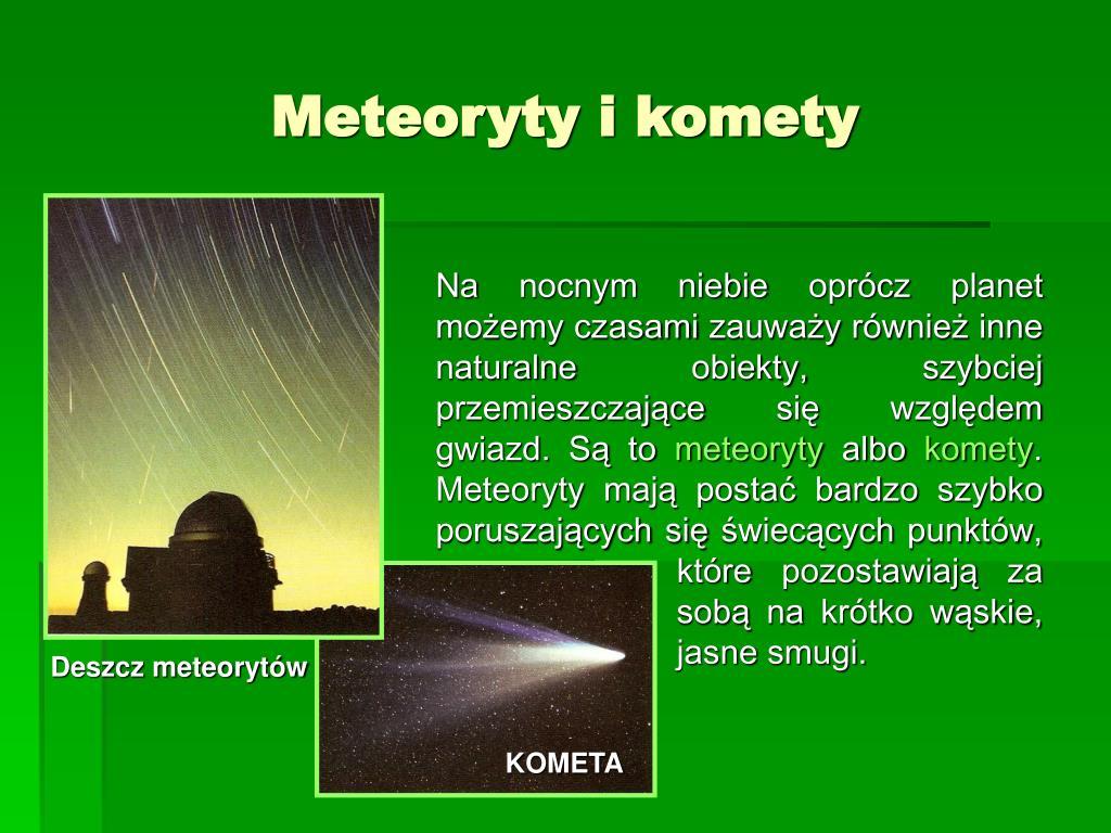 Meteoryty i komety