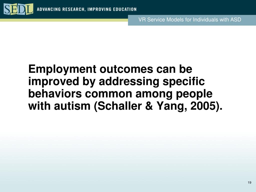 Employment outcomes can be improved by addressing specific behaviors common among people