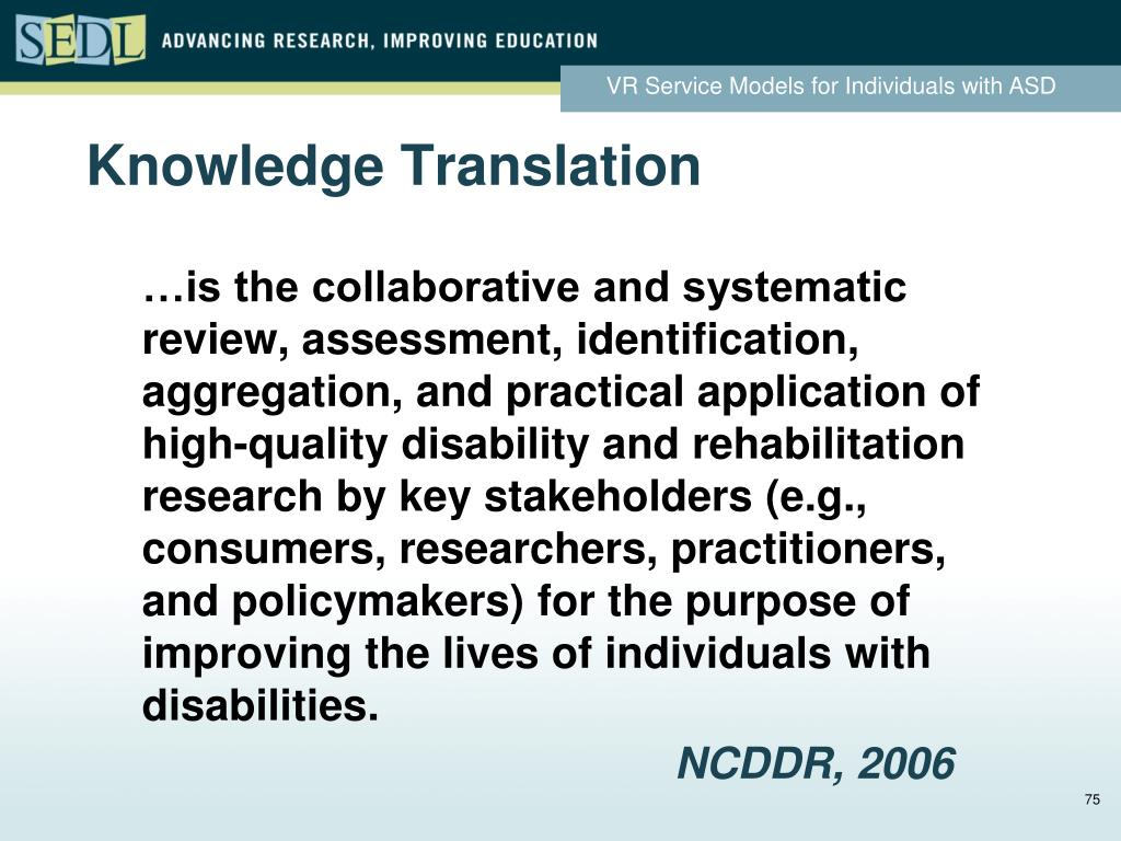 Knowledge Translation