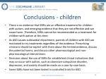 conclusions children