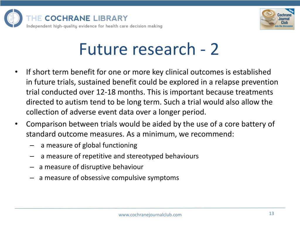 Future research - 2