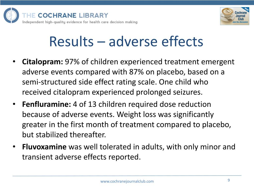 Results – adverse effects