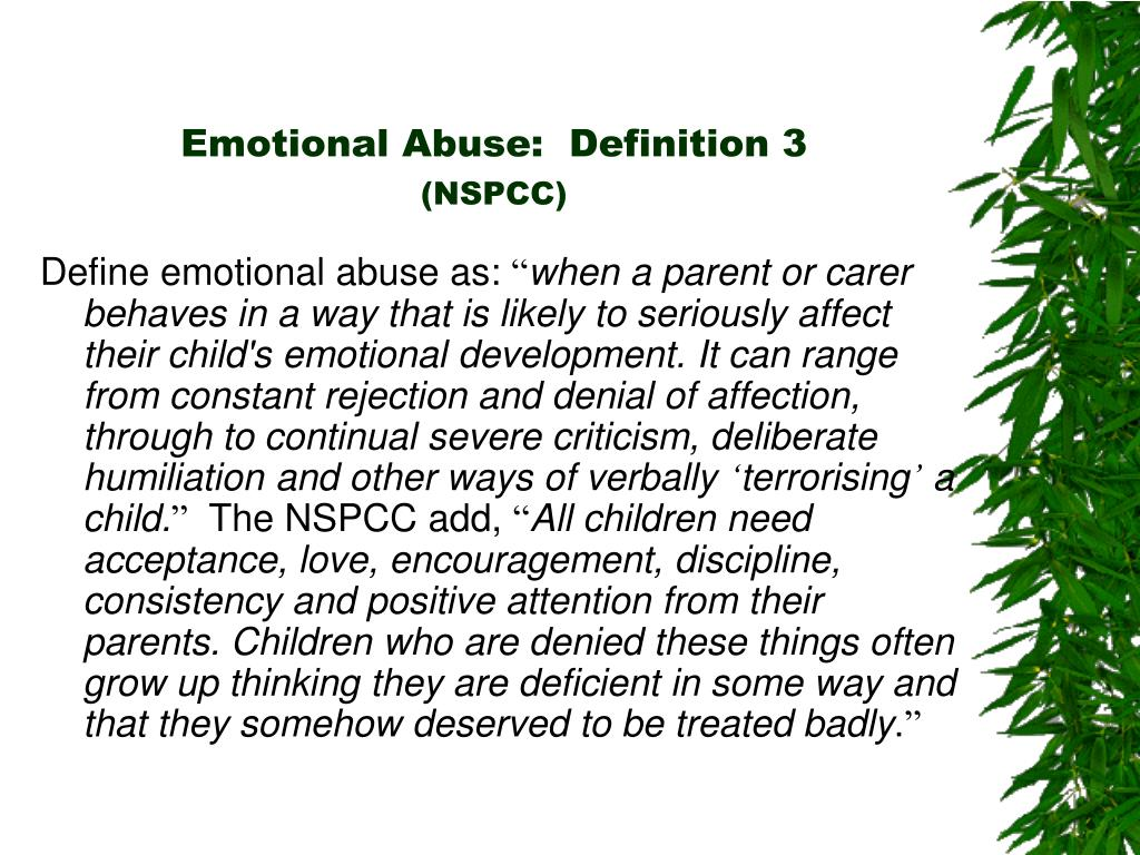 Emotional Abuse:  Definition 3