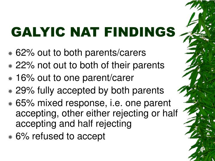 Galyic nat findings