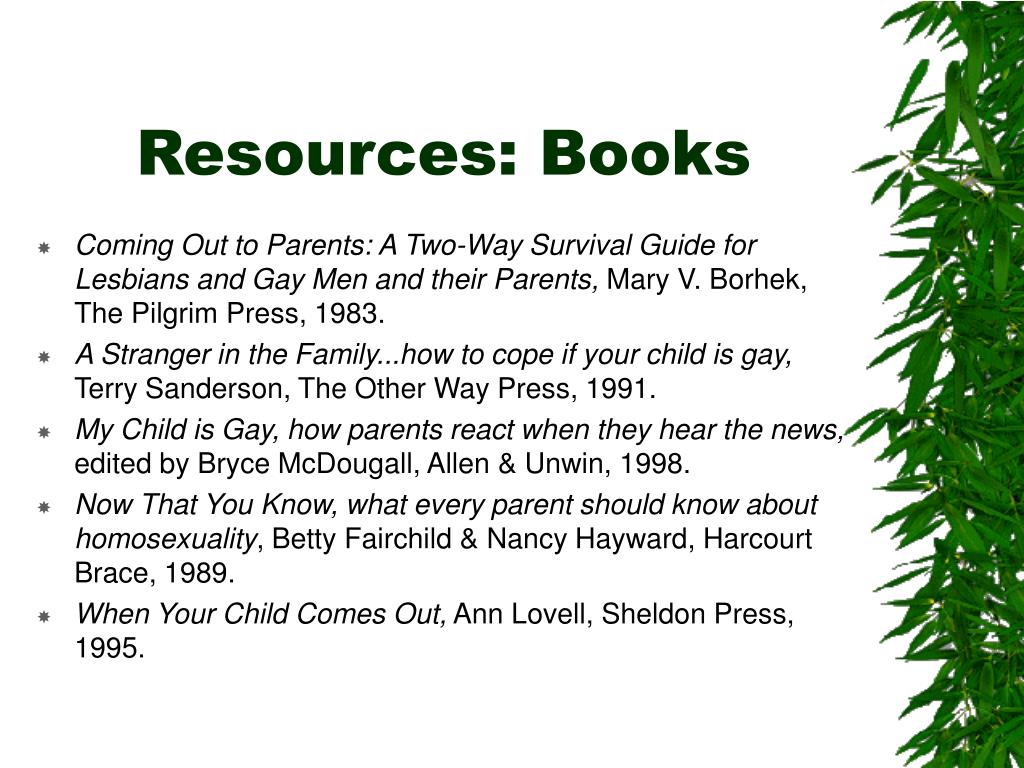 Resources: Books
