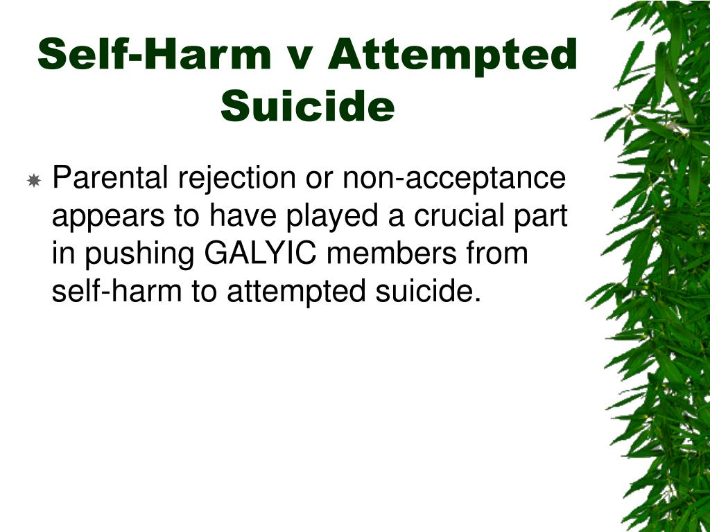 Self-Harm v Attempted Suicide