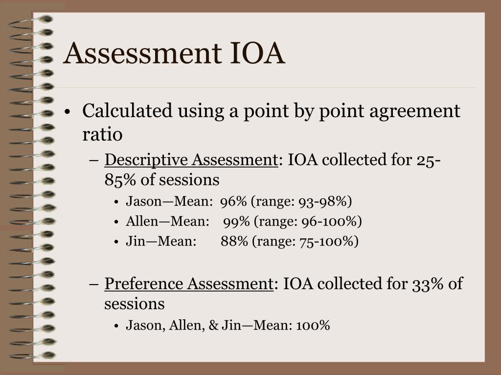 Assessment IOA