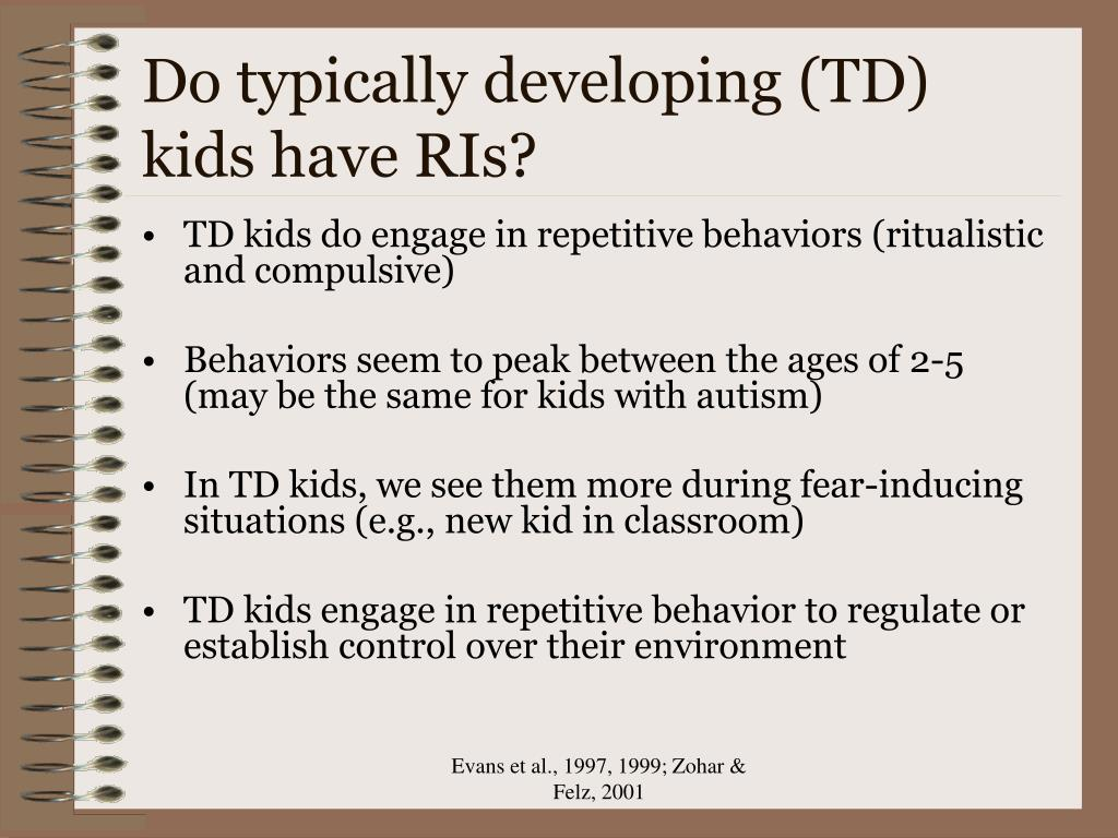 Do typically developing (TD) kids have RIs?