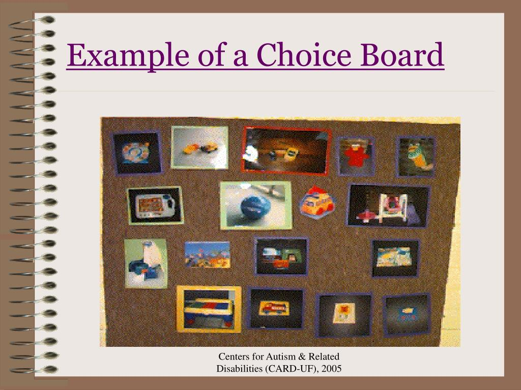 Example of a Choice Board