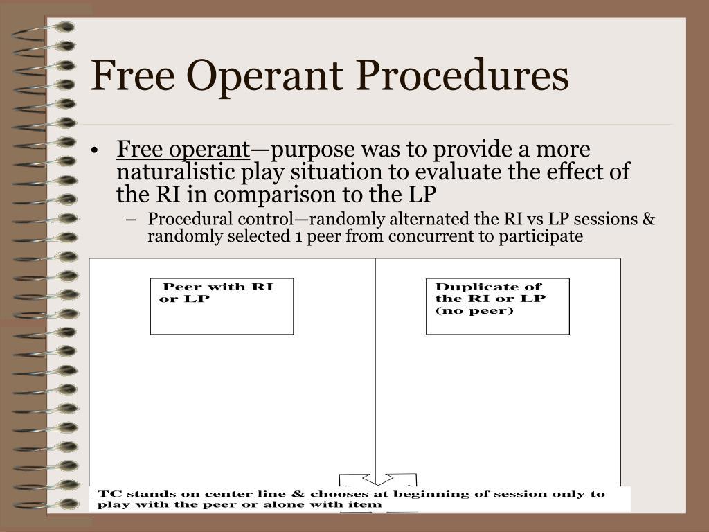 Free Operant Procedures