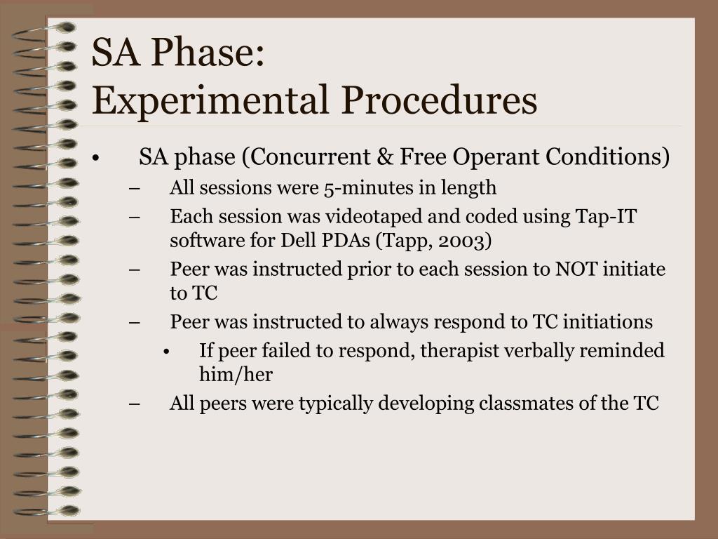 SA Phase: