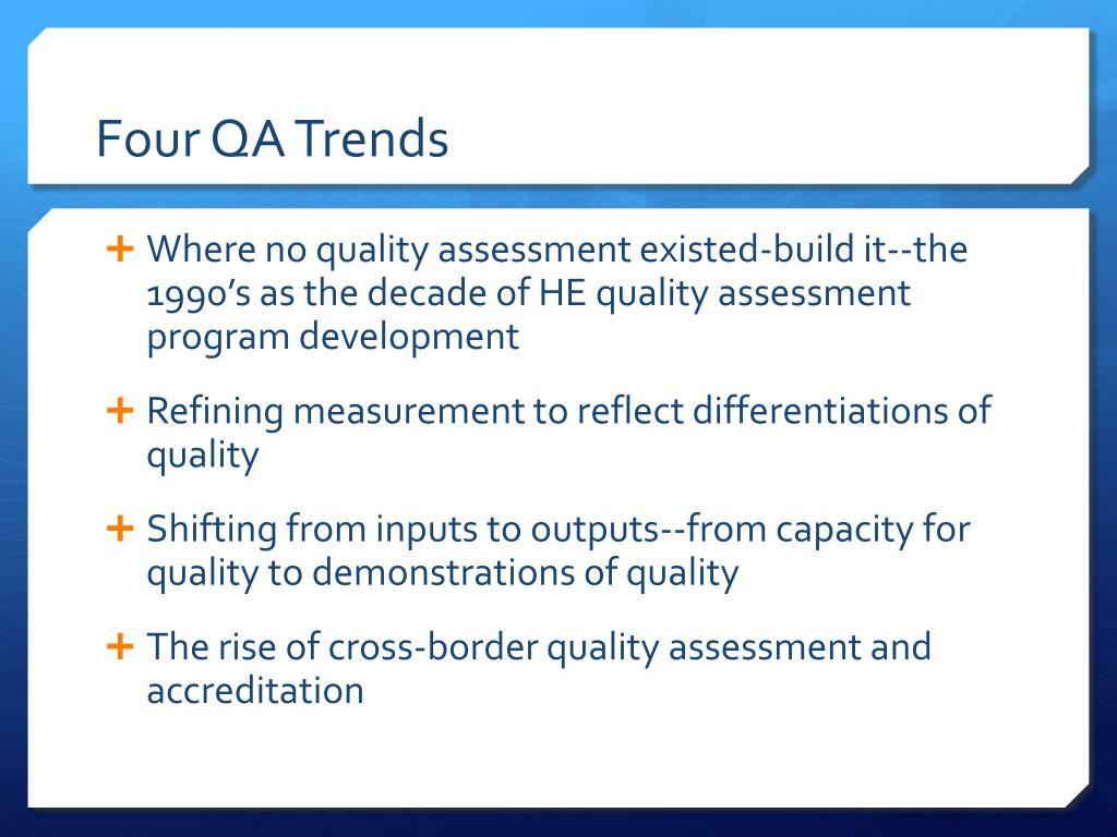 Four QA Trends