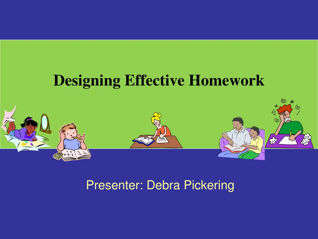 Designing Effective Homework