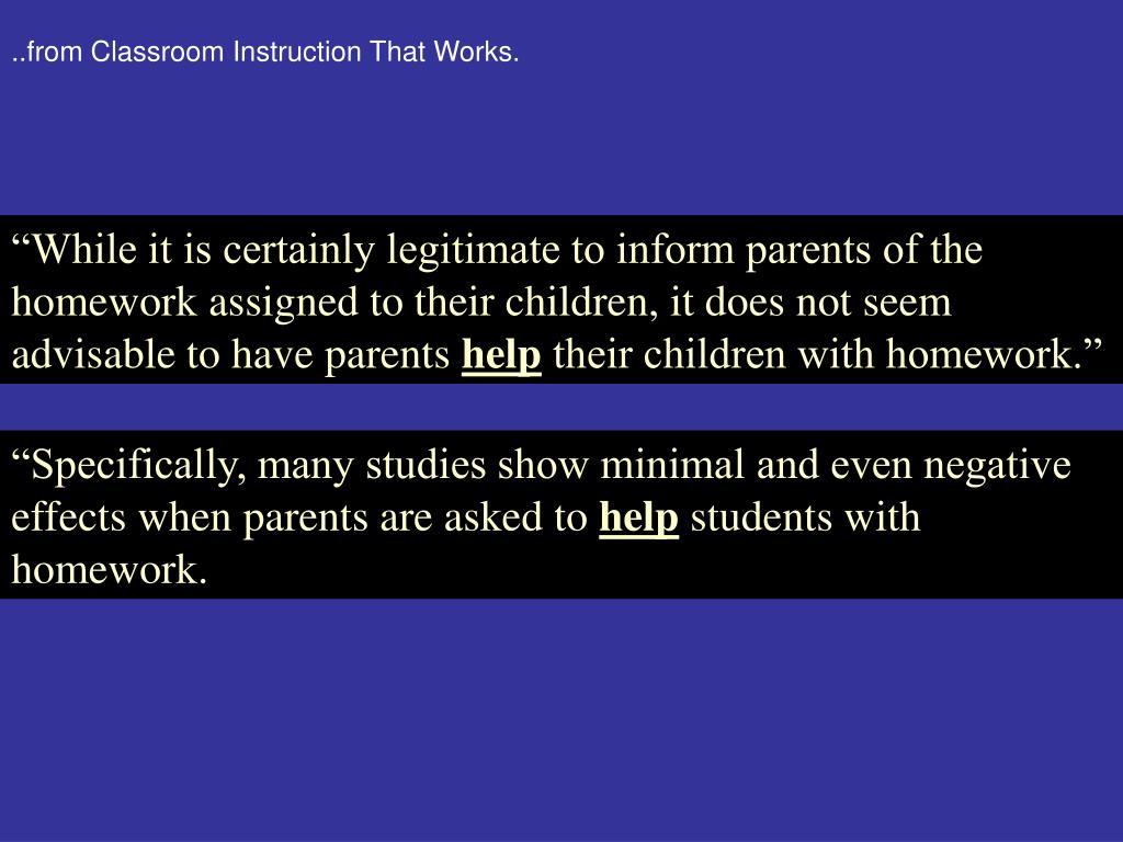 ..from Classroom Instruction That Works.