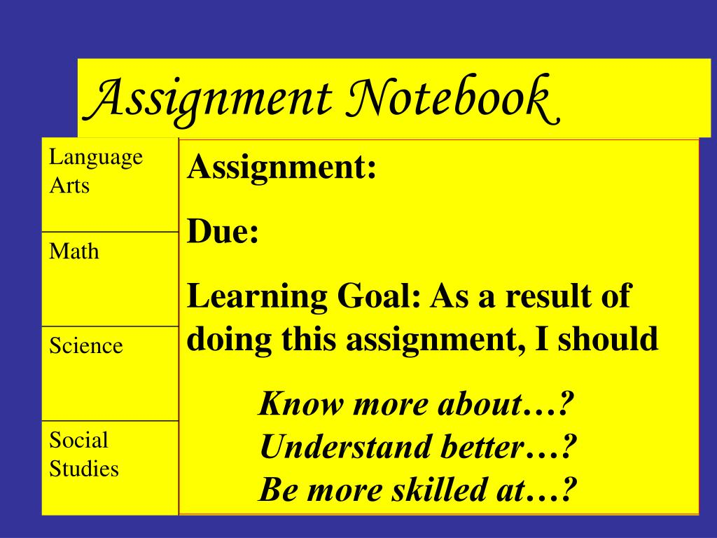 Assignment Notebook