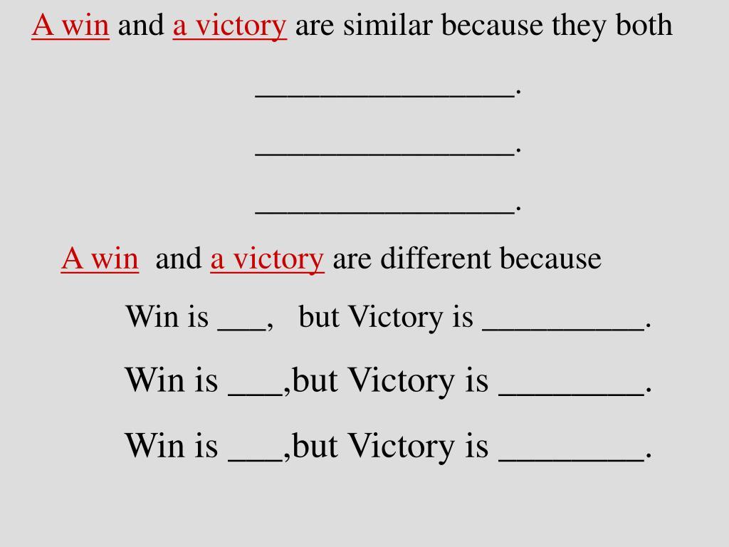 A win