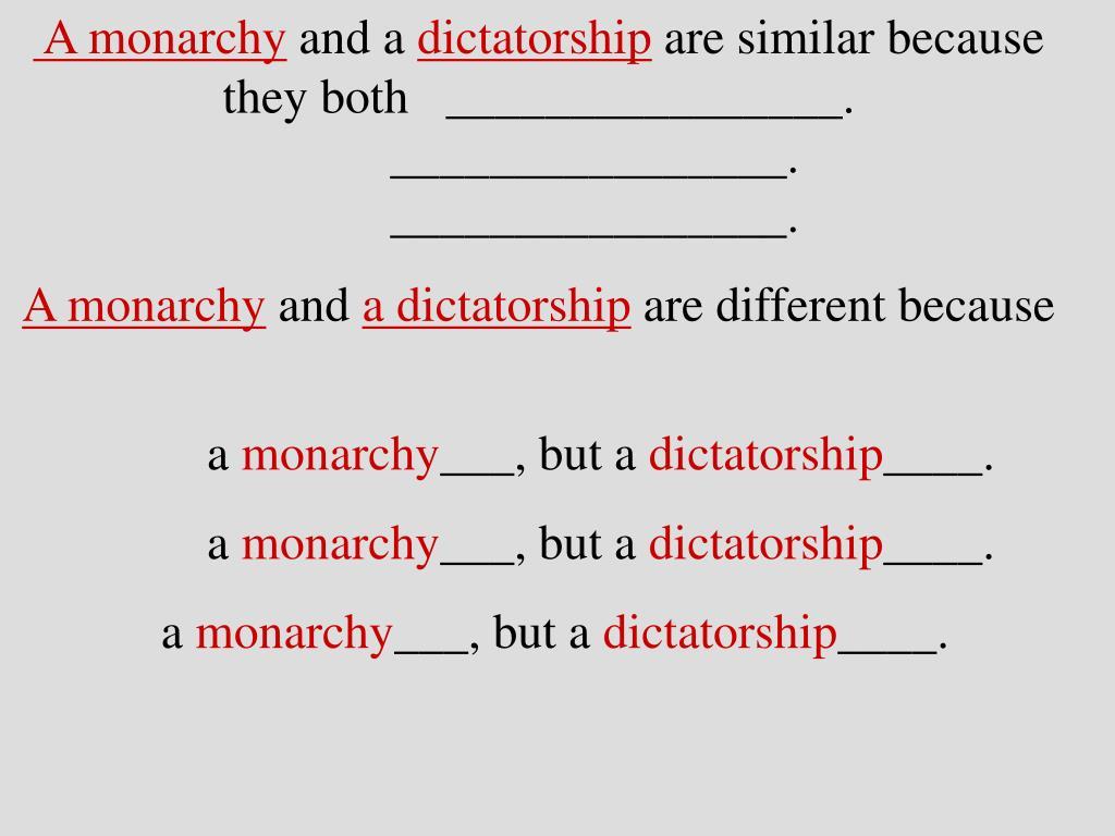 A monarchy