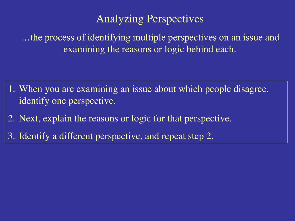 Analyzing Perspectives