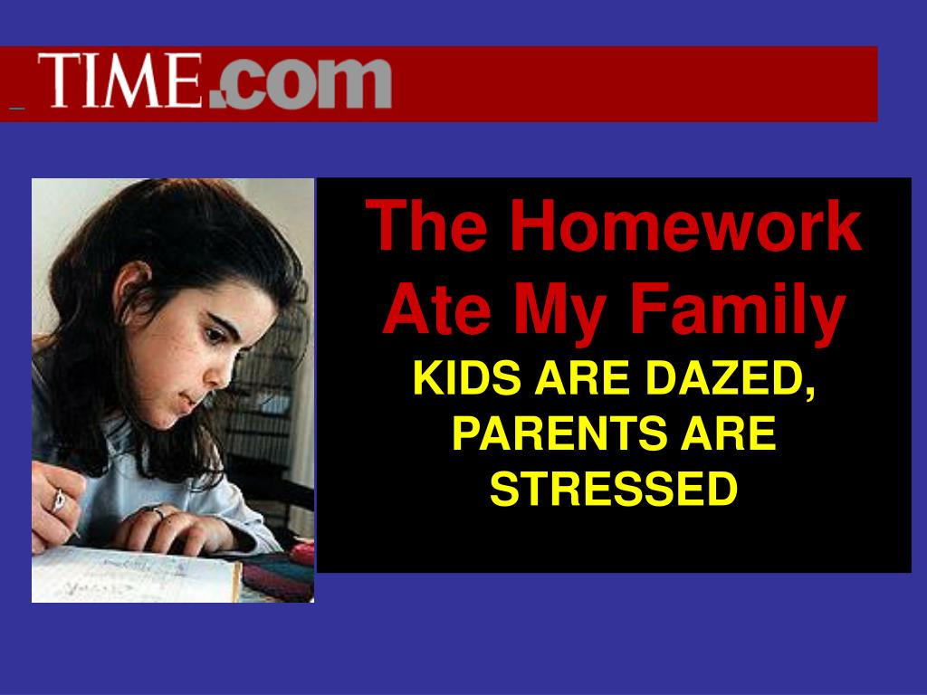 The Homework Ate My Family