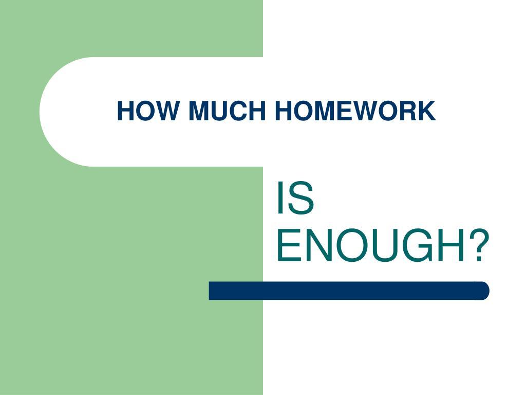 how much homework