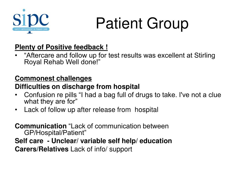 Patient Group