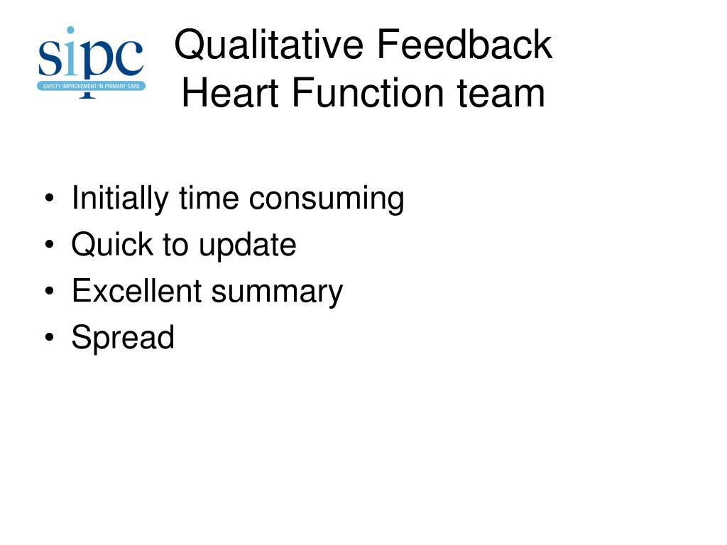 Qualitative Feedback