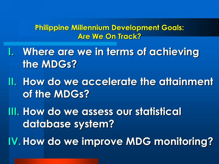 Philippine Millennium Development Goals: