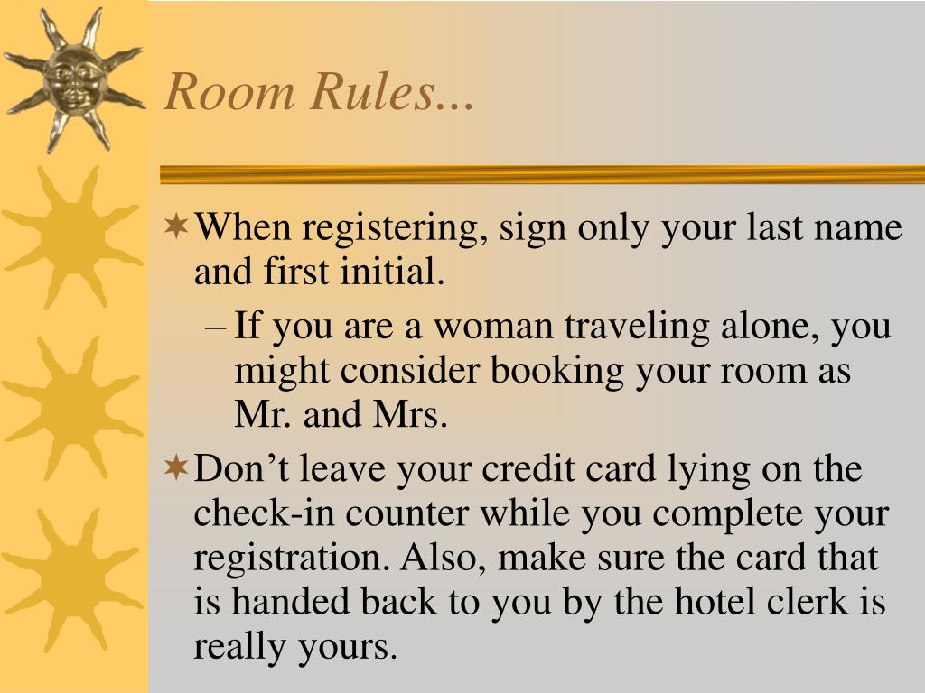 Room Rules...