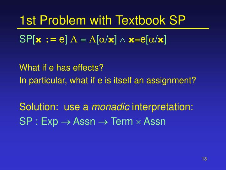 1st Problem with Textbook SP