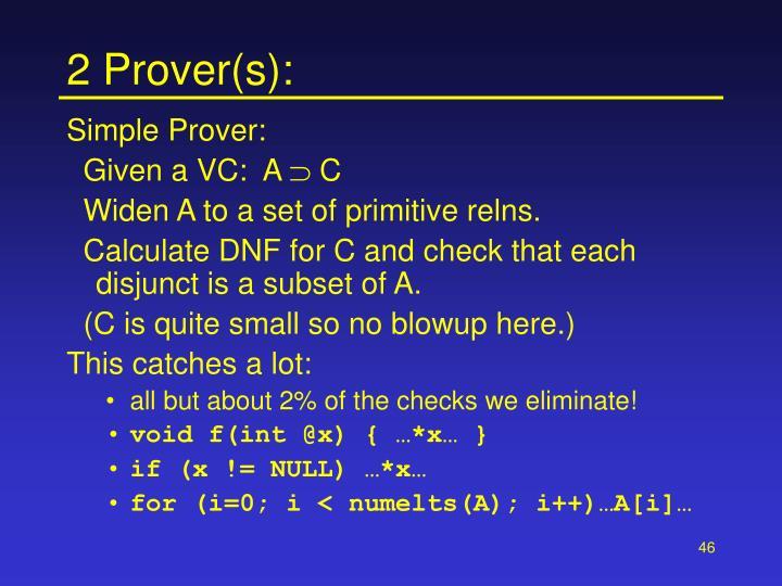2 Prover(s):