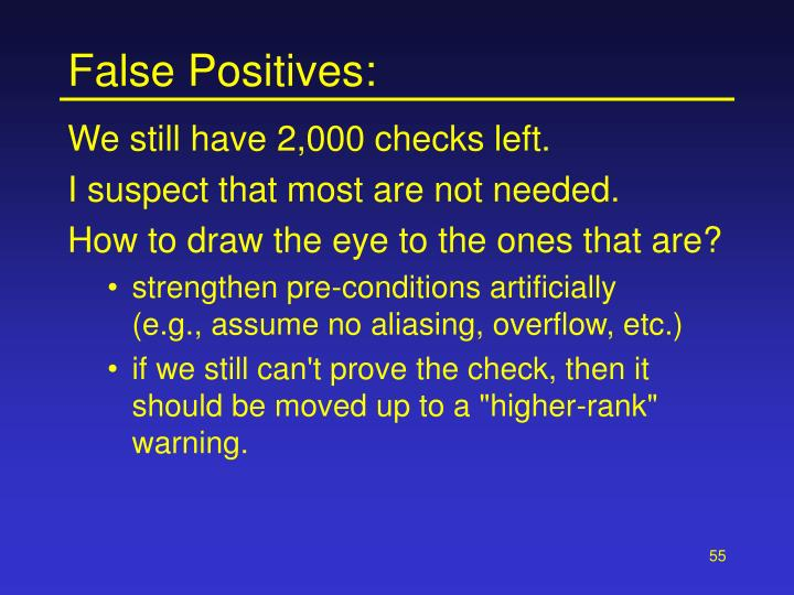False Positives: