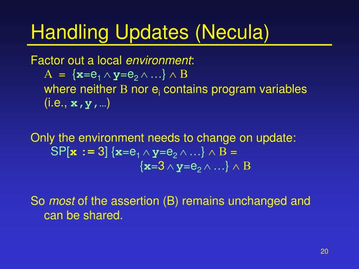 Handling Updates (Necula)