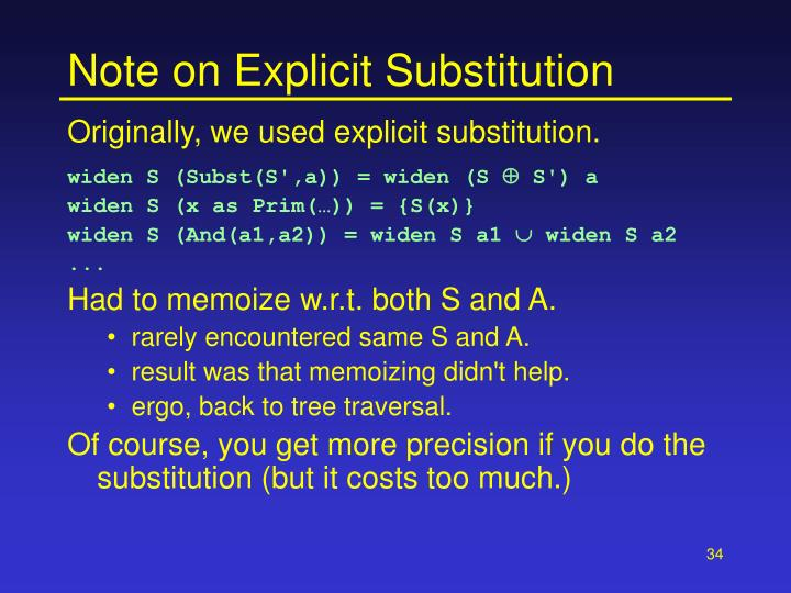Note on Explicit Substitution