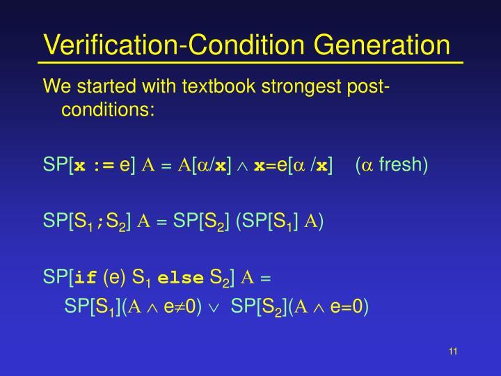 Verification-Condition Generation