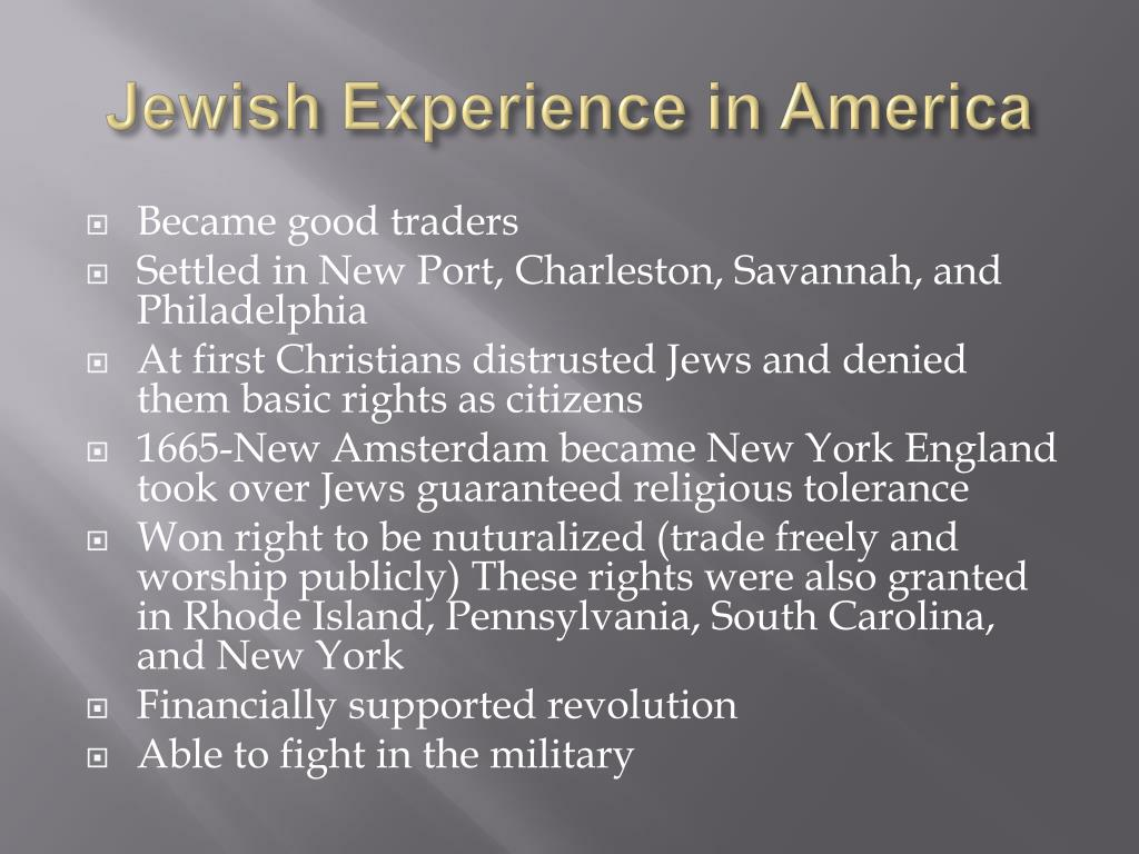 Jewish Experience in America