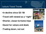 leisure travel trends