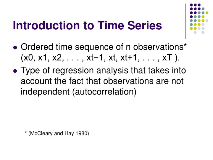 Introduction to time series