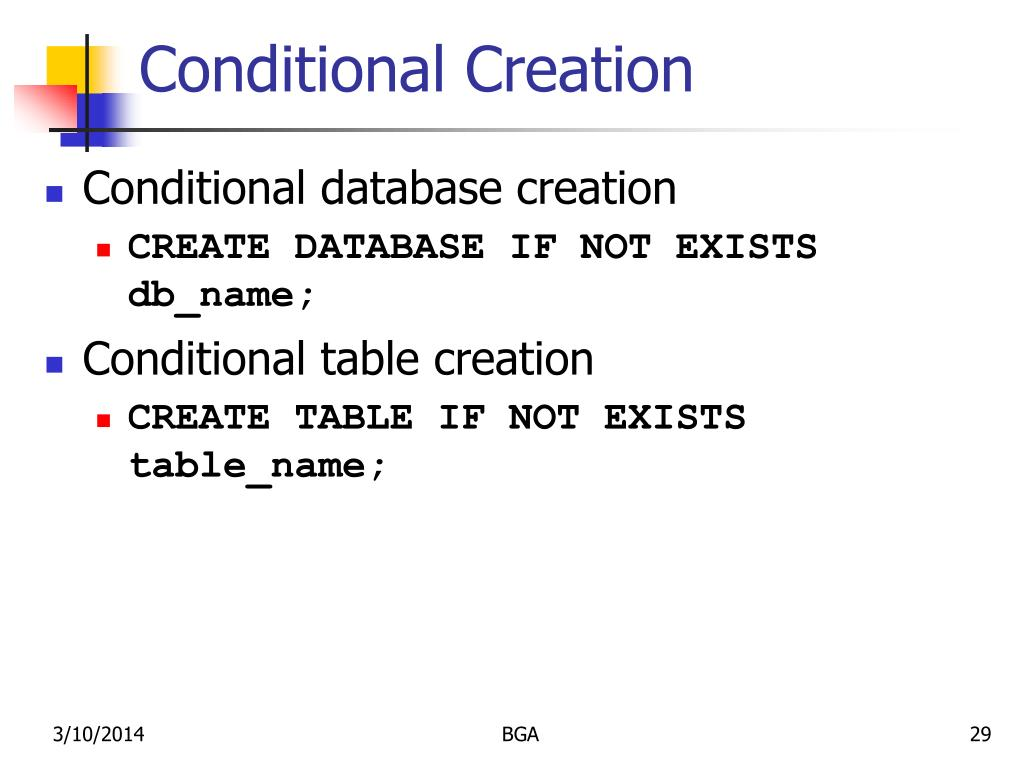 Conditional Creation