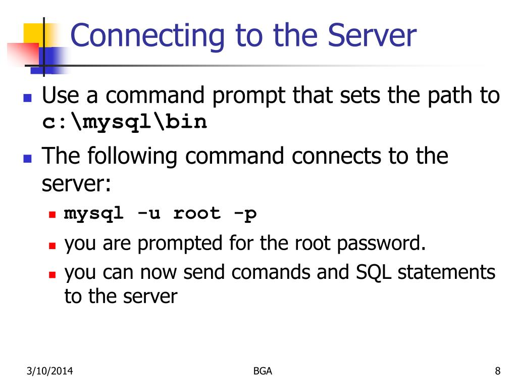 Connecting to the Server