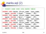 marks sql 2